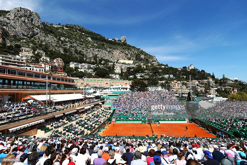 A general view of centre court during the second round match between Pierre-Hughes Herbert of France and Andy Murray of Great Britain on day three of the Monte Carlo Rolex Masters at Monte-Carlo Sporting Club on April 12, 2016 in Monte-Carlo, Monaco.