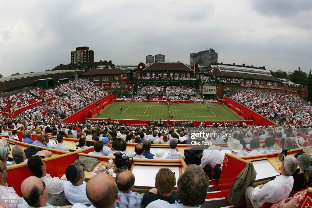 A general view of Centre Court taken during the Stella Artois Championships at Queen's Club on June 13, 2006 in London, Engand.