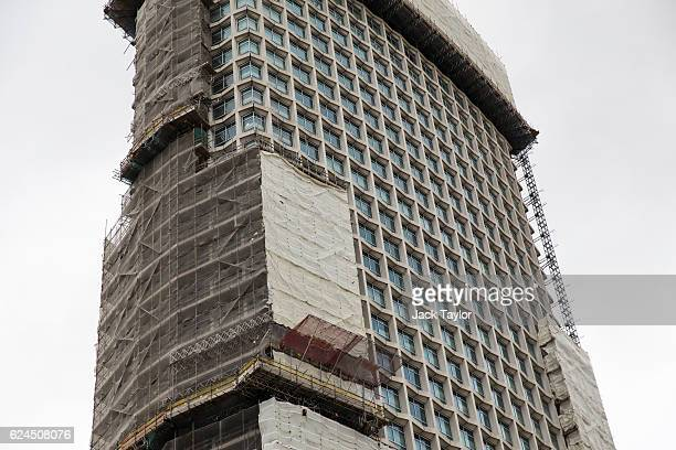 A general view of Centre Point on November 17 2016 in London England Brutalism is a style of architecture which was popular between the 1950s and...