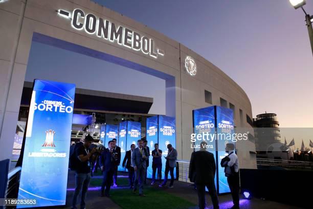 General view of Centro de Convenciones de CONMEBOL before the draw for the Copa CONMEBOL Libertadores and Sudamericana 2020 at Centro de Convenciones...