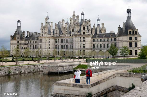 General view of Chambord castle on April 26, 2019 in Chambord, France. Leonardo da Vinci spent the last three years of his life at the castle of...