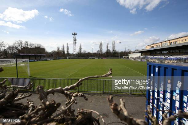 A general view of Champion Hill at Champion Hill Stadium on March 14 2018 in London England