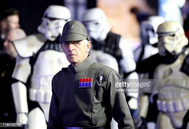 A general view of characters attend the Star Wars The Rise of Skywalker European Premiere at Cineworld Leicester Square on December 18 2019 in London...