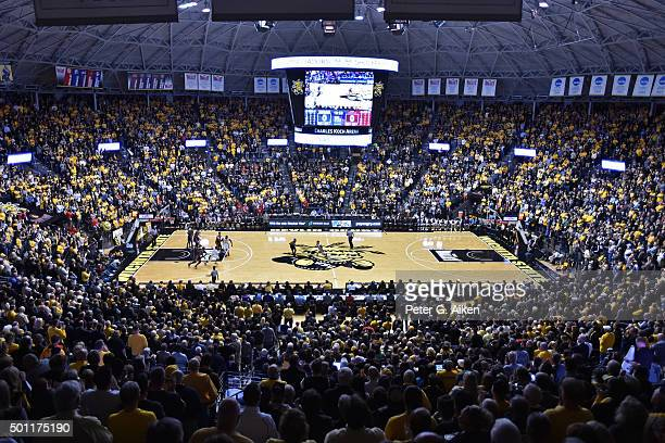A general view of Charles Koch Arena during a game between the Wichita State Shockers and the UNLV Rebels on December 9 2015 at Charles Koch Arena in...