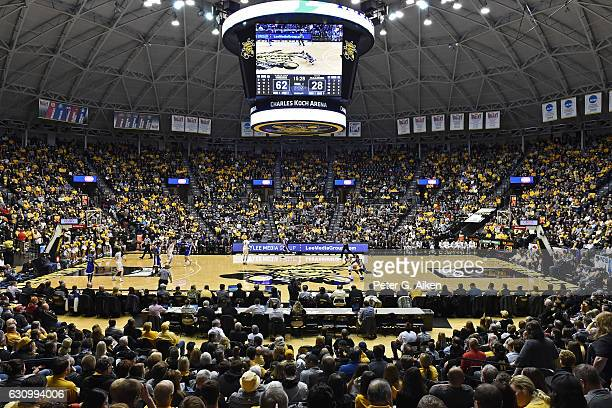 A general view of Charles Koch Arena during a game between the Wichita State Shockers and the Drake Bulldogs on January 4 2017 at Charles Koch Arena...