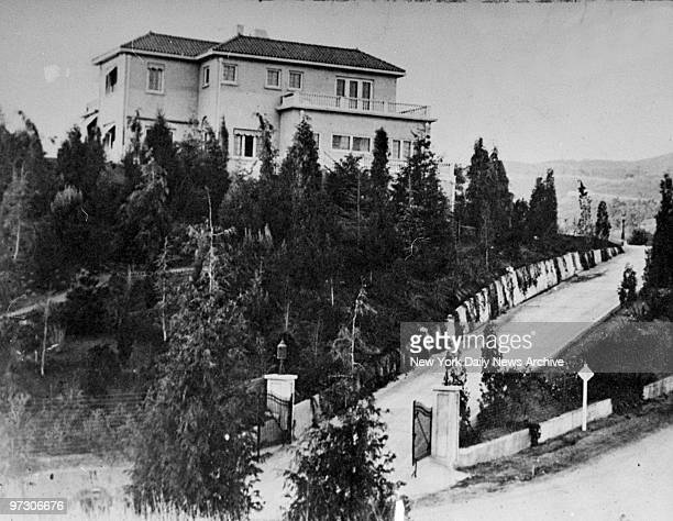 General view of Charlie Chaplin's mansion in Beverly Hills