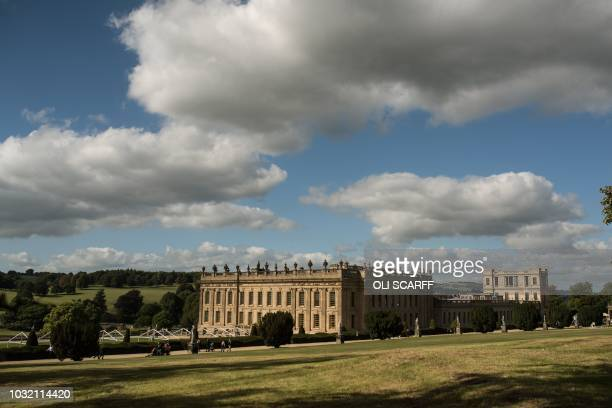 A general view of Chatsworth House prior to the opening of the Chatsworth Outdoors Grounds for Sculpture exhibition near Bakewell northern England on...