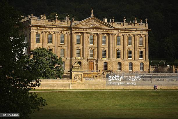 A general view of Chatsworth House the stately home of the Duke and Duchess of Devonshire on September 5 2012 in Chatsworth England The magnificent...