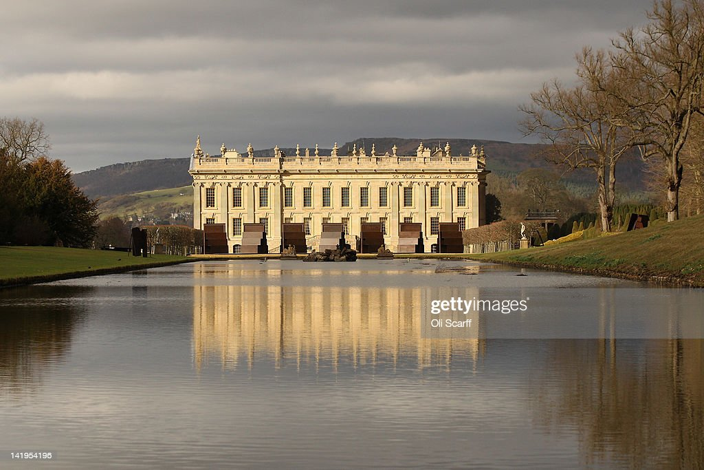 A general view of Chatsworth House, which is due to host the 'Caro at Chatsworth' exhibition of Sir Anthony Caro's sculptures, on March 9, 2012 in Chatsworth, England. The exhibition opens to the public from March 28, and runs until July 1, 2012, and comprises of 14 sculptures by Sir Anthony Caro sited around the Emperor Fountain in front of the South facade of Chatsworth House. The sculpture exhibition is the first show dedicated to the work of a single artist to be held in the garden at Chatsworth and features important pieces lent by the artist which he created over the past four decades.