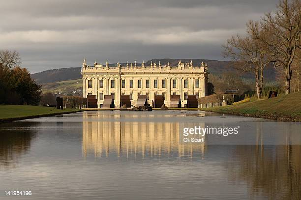 A general view of Chatsworth House which is due to host the 'Caro at Chatsworth' exhibition of Sir Anthony Caro's sculptures on March 9 2012 in...