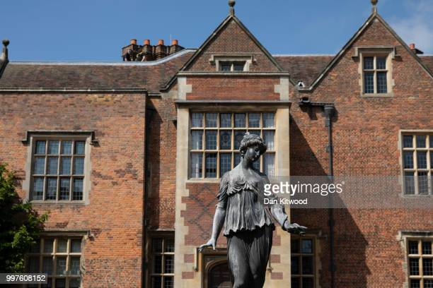 A general view of Chequers as British Prime Minister Theresa May greets US President Donald Trump at Chequers on July 13 2018 in Aylesbury England US...