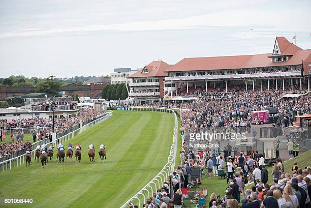 General view of Chester Races during the Family Fun Day at Chester racecourse on July 31 2016 in Chester England