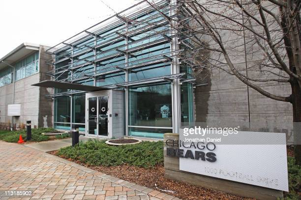General view of Chicago Bears offices and workout facilities at Halas Hall April 26, 2011 in Lake Forest, Illinois. A federal judge has temporarily...