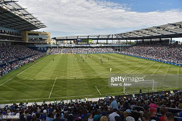 A general view of Children's Mercy Park during a game between Sporting Kansas City and Orlando City SC during the first half on May 15 2016 in Kansas...