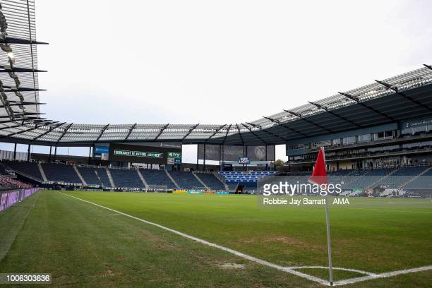 A general view of Children's Mercy Park home stadium of Sporting Kansas City prior to the 2018 Tournament Of Nations women match between Australia...