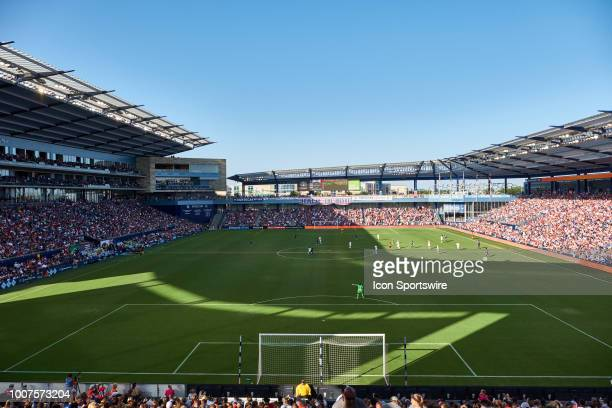 A general view of Children's Mercy Park in game action during a Tournament of Nations match between the United States and Japan on July 26 2018 at...