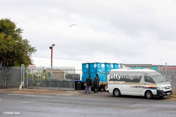 A general view of church refugees at Paint City on Day Eleven of National Lockdown on April 06 2020 in Bellville South Africa According to media...
