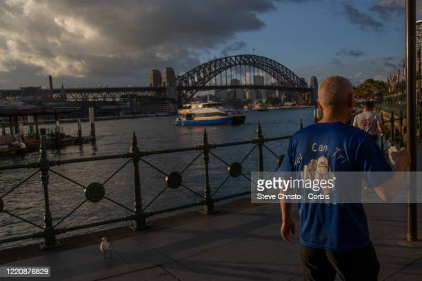 General view of circular quay empty during peak hour on March 26, 2020 in Sydney, Australia. Further restrictions on travel and movement have been...
