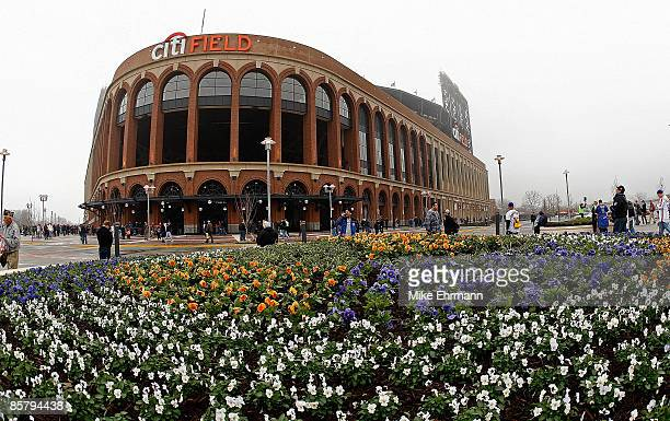 General view of Citi Field before an exhibition game between the New York Mets and the Boston Red Sox on April 3 2009 at Citi Field in the Flushing...