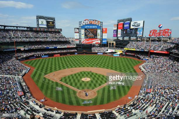 A general view of Citi Field during the game between the Milwaukee Brewers and the New York Mets at Citi Field in Flushing New York on Saturday April...