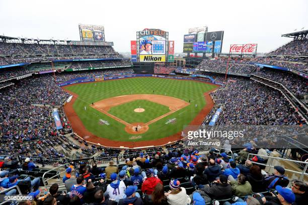 A general view of Citi Field during the game between the St Louis Cardinals and the New York Mets on Thursday March 29 2018 in the Queens borough of...