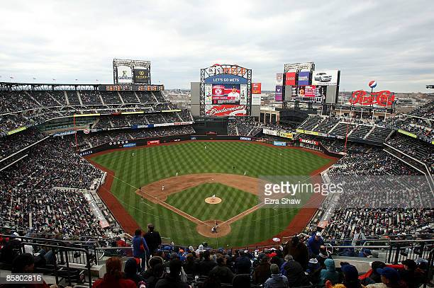 General view of Citi Field during the New York Mets game against the Boston Red Sox on April 4, 2009 in the Flushing neighborhood of the Queens...