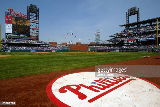 A general view of Citizens Bank Park as the Philadelphia Phillies take on the Montreal Expos on April 18 2004 in Philadelphia Pennsylvania The...