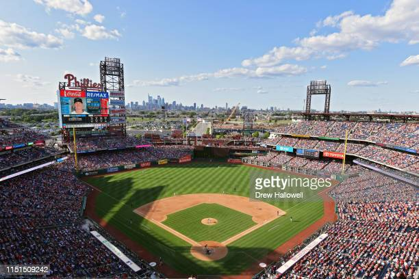 A general view of Citizens Bank Park during the game between the Miami Marlins and Philadelphia Phillies on June 22 2019 in Philadelphia Pennsylvania...