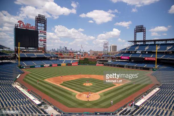 General view of Citizens Bank Park during the Philadelphia Phillies intrasquad game on July 9, 2020 in Philadelphia, Pennsylvania.