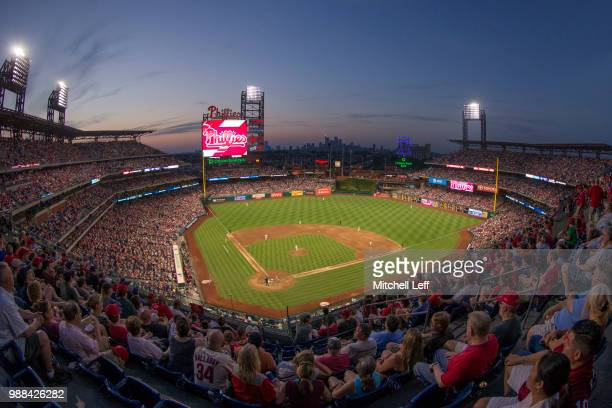 A general view of Citizens Bank Park in the top of the seventh inning during the game between the Washington Nationals and Philadelphia Phillies on...