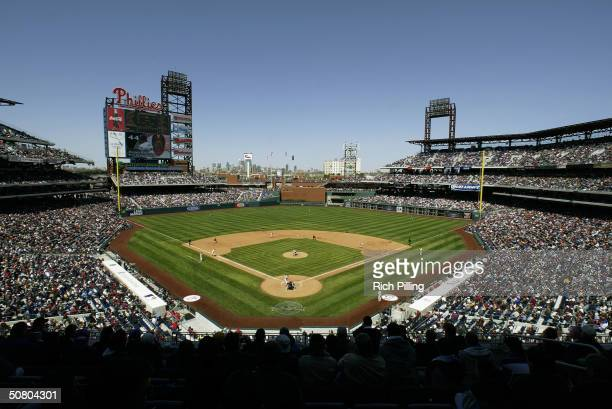 A general view of Citizens Bank Park on April 15 2004 in Philadelphia Pennsylvania The Phillies defeated the Reds 64