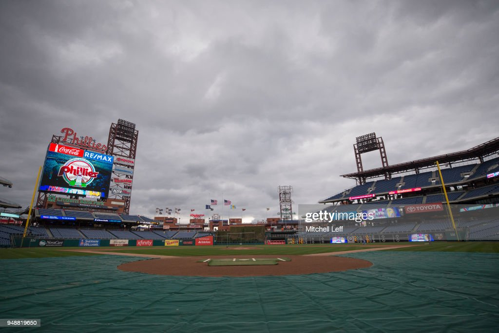 A general view of Citizens Bank Park prior to the game between the Pittsburgh Pirates and Philadelphia Phillies on April 19, 2018 in Philadelphia, Pennsylvania.