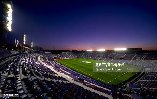 General view of Ciutat de Valencia ahead of the Liga match between Levante UD and Real Madrid CF at Ciutat de Valencia on February 22, 2020 in...