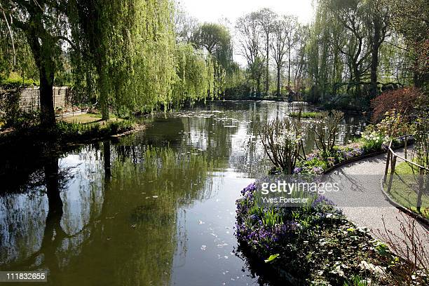 A general view of Claude Monet garden April 4 2011 in Giverny France The studio was restored using photographs taken when Monet was alive and working...