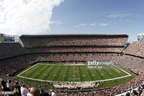 General view of Cleveland Browns Stadium is shown during the game against the Dallas Cowboys on September 7 2008 in Cleveland Ohio