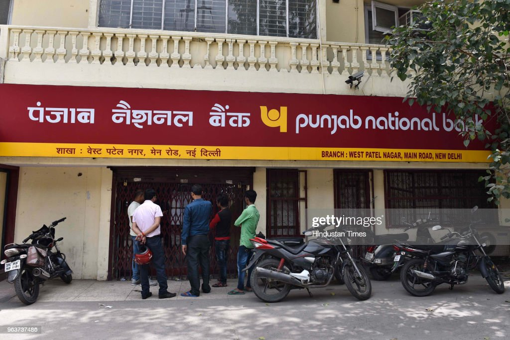 A general view of closed Punjab National Bank as employees of government banks went on a strike at Patel Nagar on May 30 2018 in New Delhi India...