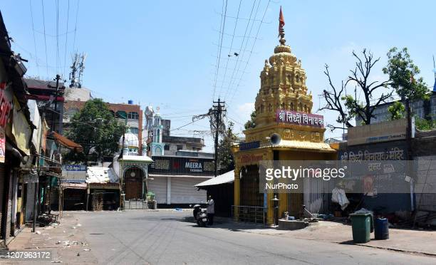 General view of closed religious places during a One day nationwide Janata curfew imposed as a preventive measure against the COVID-19 corona virus,...