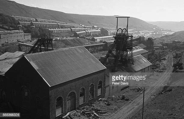 General view of coal mines TonyPandy Wales 1970s