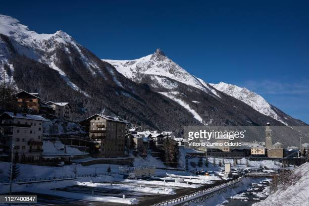 General view of Cogne on February 04, 2019 in UNSPECIFIED, Italy.
