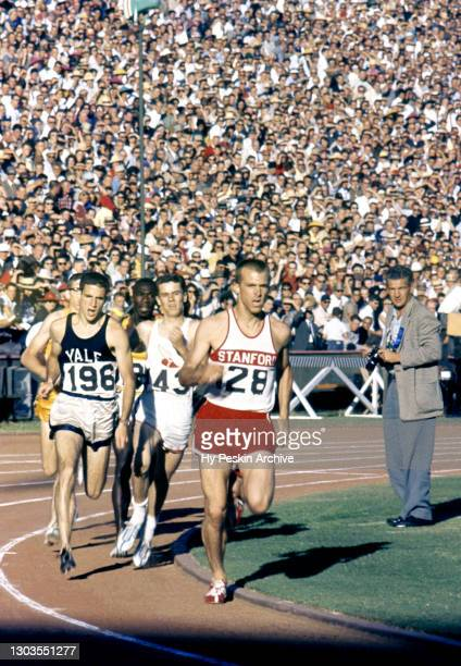 General view of Collegiate runners from various schoolsparticipate in a running event during the Track and Field United States Olympic Trials on...