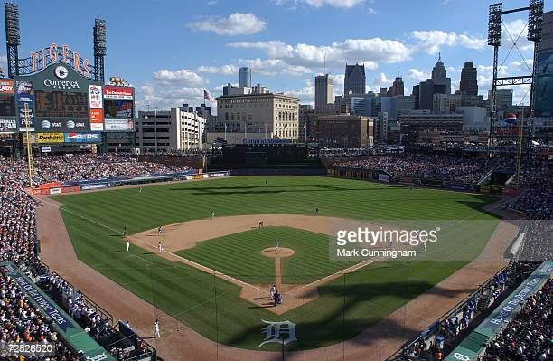 General view of Comerica Park during the game between the Detroit Tigers and the Kansas City Royals in Detroit Michigan on October 1 2006 The Royals...