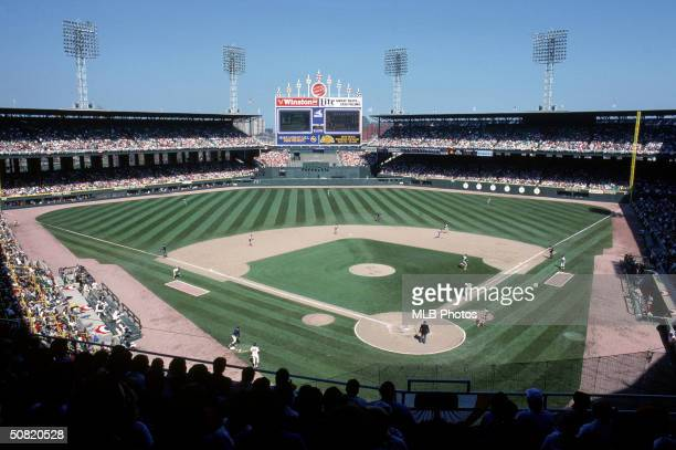 A general view of Comiskey Park circa April1988 in Chicago Illinois