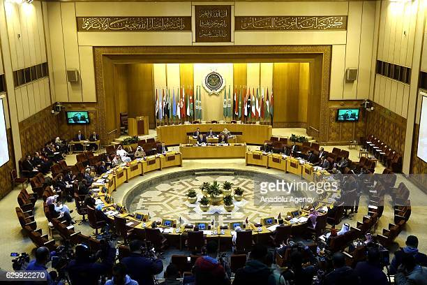 A general view of Committee of Permanent Representatives Extraordinary Summit on recent developments in Aleppo on December 15 2016 in Cairo Egypt
