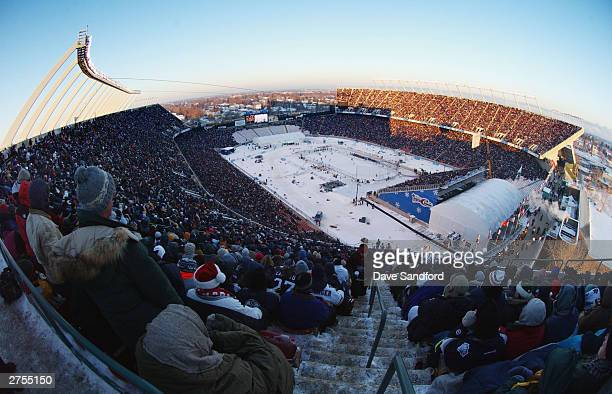 A general view of Commonwealth Stadium as the Montreal Canadiens and take on the Edmonton Oilers in the Molson Canadien Heritage Classic Megastars...