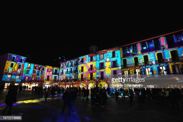 General view of Como Magic Lights 2018 on December 1, 2018 in Como, Italy.