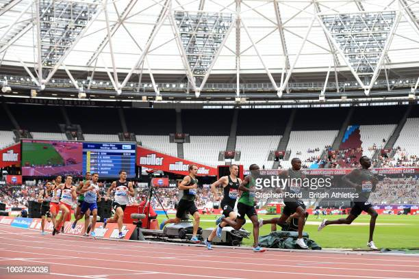 A general view of competitors in the Men's 800m during Day Two of the Muller Anniversary Games at London Stadium on July 22 2018 in London England