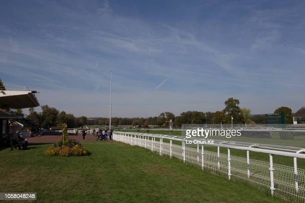 General view of Compiegne racecourse on October 8, 2018 in Compiegne, France.