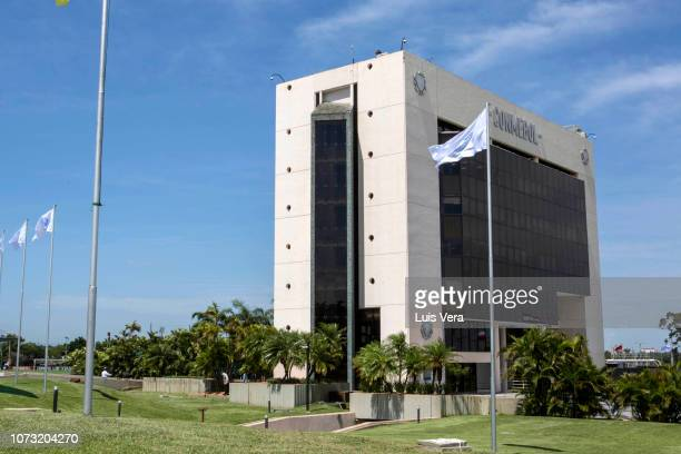 General view of CONMEBOL building during a meeting between the presidents of CONMEBOL, Boca Junior and River Plate to come to an agreement on a new...