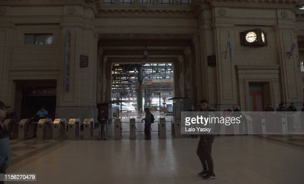 General view of Constitucion railway station during the massive energy blackout in Argentina on June 16 2019 in Buenos Aires Argentina A widespread...