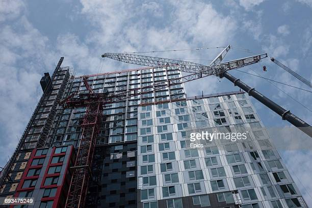 A general view of construction work in downtown Brookyln New York which has seen a boom in the building of residential and commerical developments...